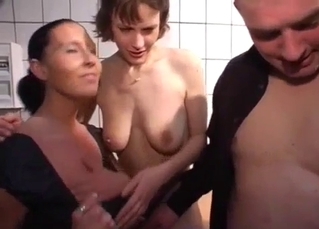 Mom gives a good blowjob for a horny son