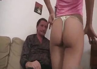 Dad knows how to seduce his sexy daughter