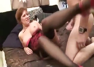 Mom on high heels does love hardcore sex