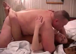 Sexy daughter in glasses fucked by her dad