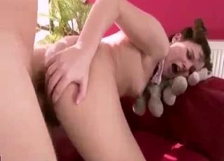 Brunette bitch likes hardcore doggy style sex
