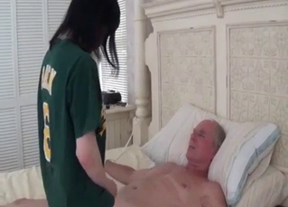 Dark-haired daughter likes her daddy's cock