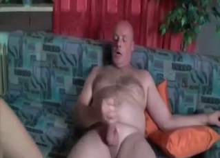 Fat old man and granddaughter have sex