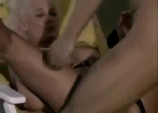 Gorgeous blonde MILF jumps on younger brother