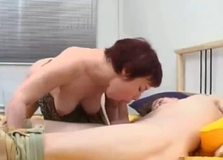 Teen man licks a pussy of his sister