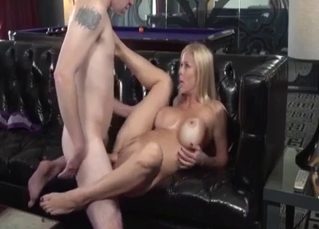 Fake-boobed mom does love hardcore incest