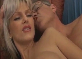 Busty bleached doll drilled by nasty uncle