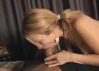 Real daughter is sucking father's sausage