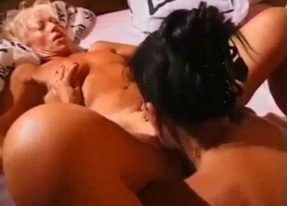 Sexy blonde and brunette have a nice incest