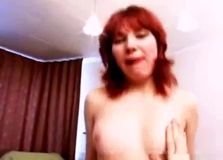 Redhead babe passionately sucks her brother