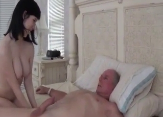 Gorgeous-looking doll enjoys daddy's dick