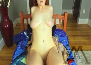 Big-boobed hottie is enjoying incest sex