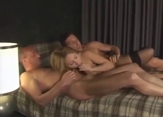 Blonde babe knows how to please her daddy