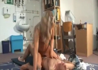 Old dad nicely sucked by a big-boobed daughter
