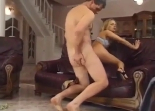 Curvy young sister rides older brother