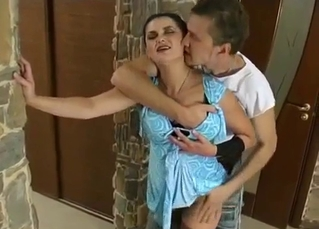 Stunning mom enjoys her lustful son