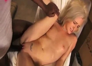 White beauty with big tits VS black dick