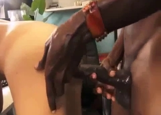 Huge black dick is a nice gift for sister