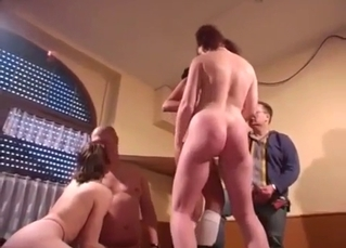 Bald brother licks a pussy of his sister