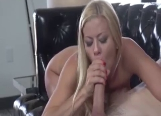 Big-boobed mom jumps on uncle's big dick