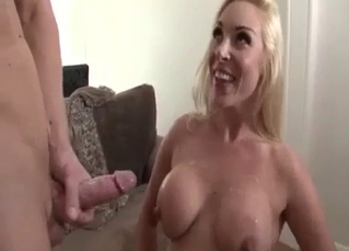 Awesome blonde sis enjoys brother's dick