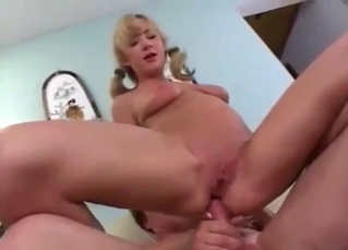 Blonde beauty enjoys intensive dick riding