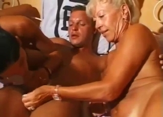 Mom and daughter stimulate son's dick