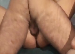 Dirty hairy dad screws his slender daughter