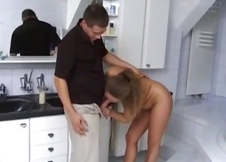 Big-boobed auntie is enjoying dirty sex