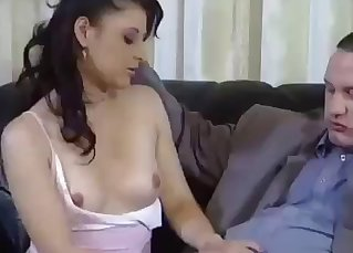 Sexy cute daughter knows how to give a head