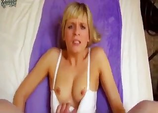 Banging a slender sister in doggy style