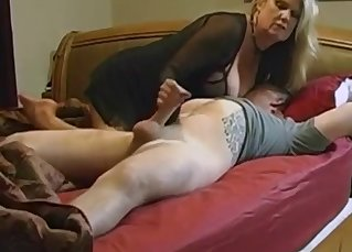Busty mom and nasty son love incest