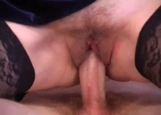 Lusty busty mom rides her son with love