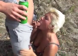Busty blond mom knows how to suck