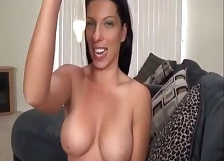 Awesome brunette gets fucked by her son