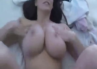 Perfect busty sister enjoys dick riding