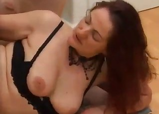 Big-tit mom enjoys her lustful son