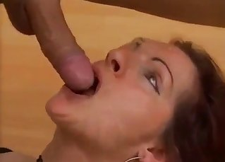 Big-tit mom enjoys her lustful son