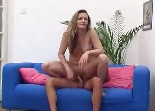Athletic mom drilled by really nasty uncle