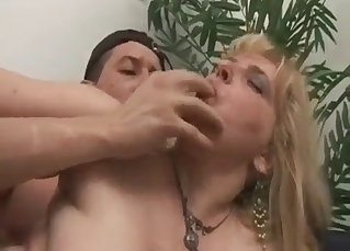 Mom with hairy cunt fucked by nasty son