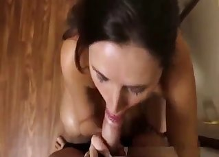 Niece knows how to properly suck a big cock